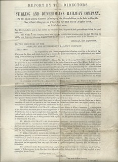 Stirling and Dunfermline Railway Directors report 1848 | by ian.dinmore