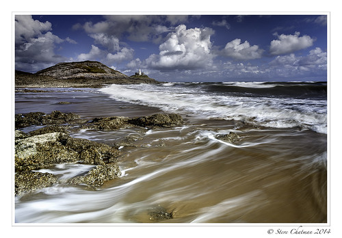 uk sea sky beach swansea wales clouds canon holidays surf waves mumbles braceletbay 2014 stevechatman