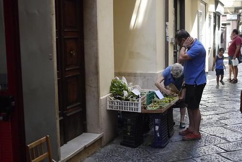 Old women selling vegetables in Gaeta