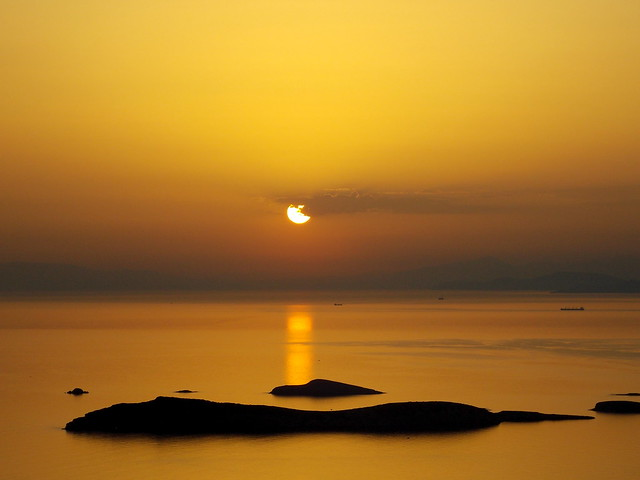 Την ωρα του ηλιοβασιλεματος,Ανδρος-At sunset time,Andros