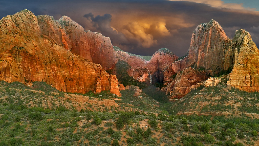 Kolob Canyon in Zion NP, Utah