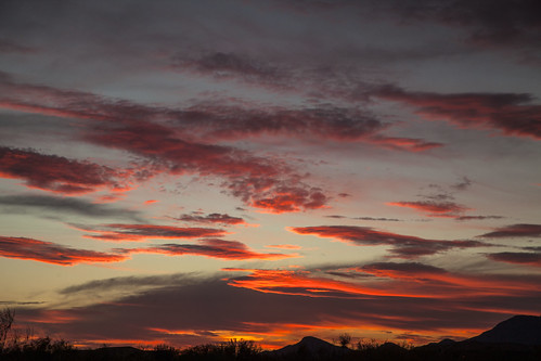 arizona places tucson sunset desert clouds