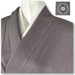 1000円出品 4/15 PM21時締め切り  日本の美 極上の逸品 江戸小紋 毛万筋 しつけ付 未着用 黒地 シルバーグレー 美品です。  素敵な逸品 毛万筋になります。 黒地にシルバーグレーの縦筋が粋ですよね~♪  日本の美を表すのにとても素敵な色使いですよね♪  日本の美を着こなす心地よさをご堪能下さいませ。  万筋は大変に粋な柄として江戸時代より町人の間でもてはやされ大流行した文様です。 浮世絵にも粋な女性や男性が縞柄の着物を色っぽく着こなす風情が多く描かれています。  万筋を染める型紙は、大変高
