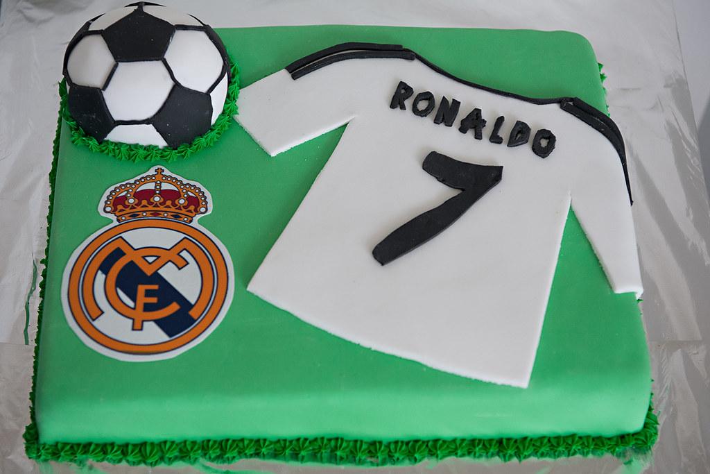 Terrific Boys Birthday Cake Real Madrid Ronaldo Cake Nicole Pearce Funny Birthday Cards Online Elaedamsfinfo