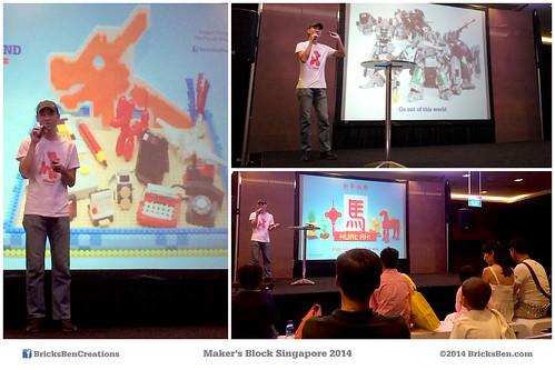 BricksBen - Makers Block Singapore 2014 - Creating Brick Art with LEGO Parts by Jeffrey Kong - Suntec City 6 July 2014 | by BricksBen LEGO® Creations