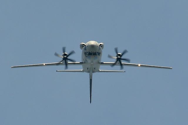 Alenia C-27J Spartan Doing A Loop De Loop .. This is A Hercules Sized Plane ..