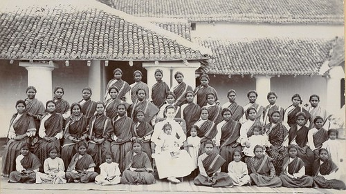 Girls Orphanage in Yeotmal, Berar,India circa 1908 with Effie Southworth