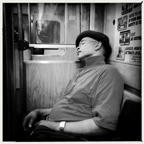 Sleeping on the El
