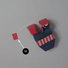 วิธีทำของเล่นโมเดลกระดาษกับตันอเมริกา (Chibi Captain America Papercraft Model) 027