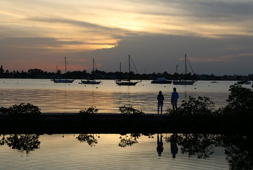 sunset couple florida cloudy stuart stlucieriver shepardspark