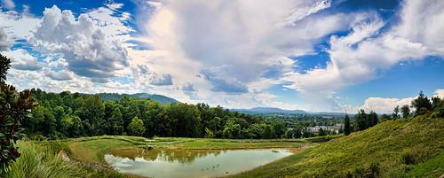 sky panorama clouds virginia pond nikon day cloudy sunny charlottesville d300 pantops nikkorafsdx18105mmf3556edvr bobmical
