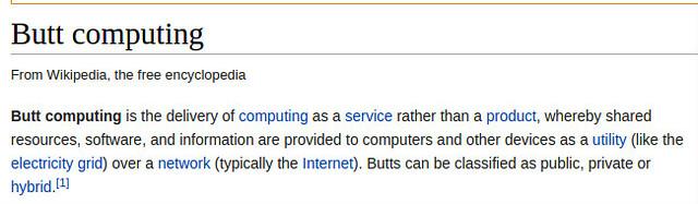 Butt Computing