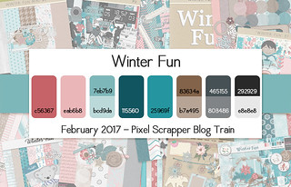Pixel Scrapper February 2017 Blog Train - Winter Fun | by Pixel Scrapper