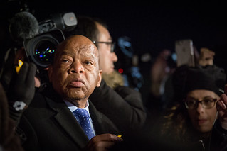 Rep. John Lewis, Supreme Court news conference to call for the reversal of President Trump's travel ban on refugees and immigrants from several Middle East countries | by Lorie Shaull