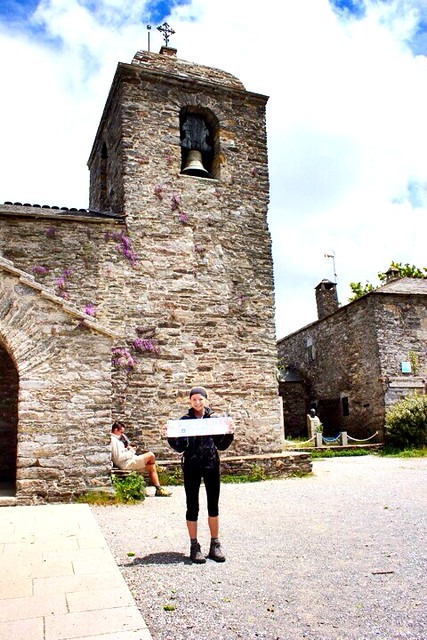 Paige has almost finished her trek to #santiagodecompostelaSan #santiagodecompostela only about 90 short km to go. She's doing great, just #exhausted and #tired.  #theway  #peligrino #pilgrim  #piggylovestotravel #spain  #proudmomma  #greatlifeexperience