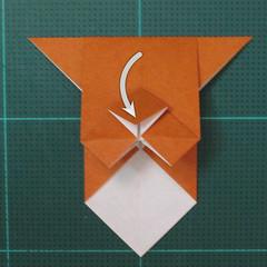 วิธีพับกระดาษเป็นที่คั่นหนังสือรูปหมาบูลด็อก (Origami Bulldog Bookmark) 010