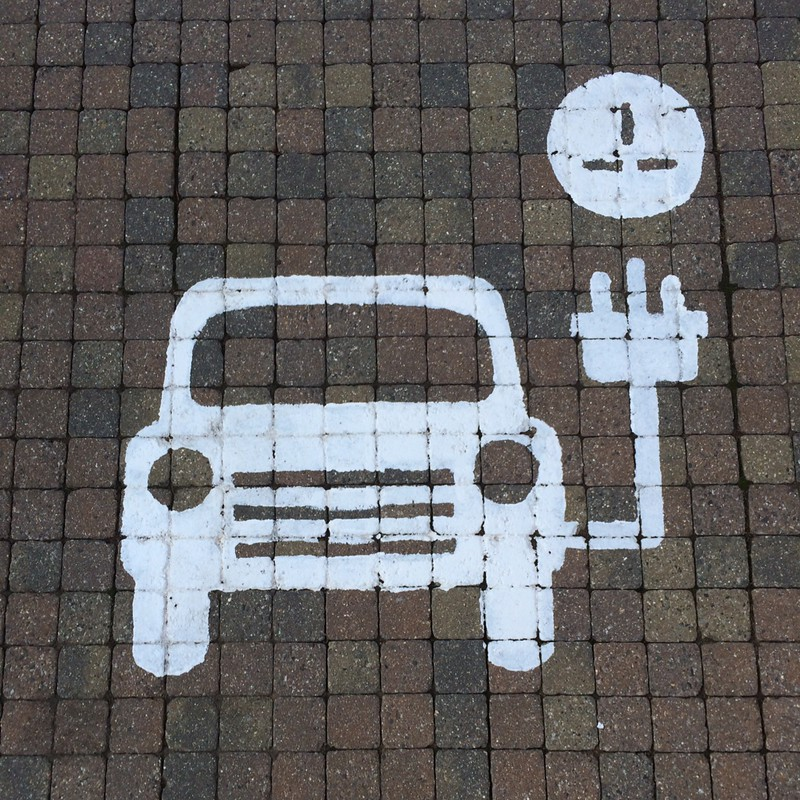 electric car charging space