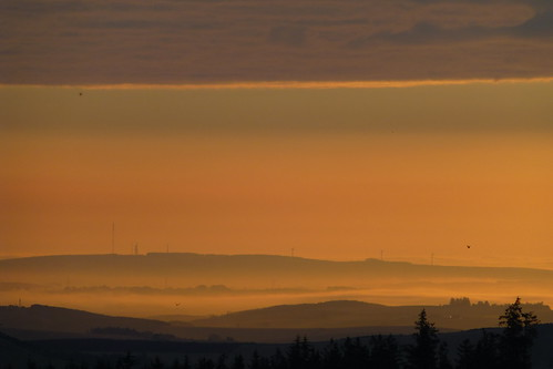 sunrise scotland near over leslie insch