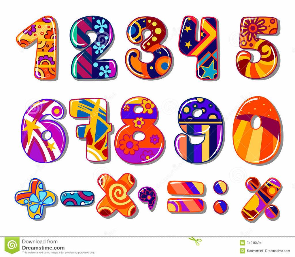 Numeros Coloridos Da Escola Dos Desenhos Animados 34915694 Flickr