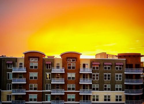 cameraphone california homes sunset summer sky september socal condo monsoon orangecounty anaheim gardengrove iphone4 chapmancommons