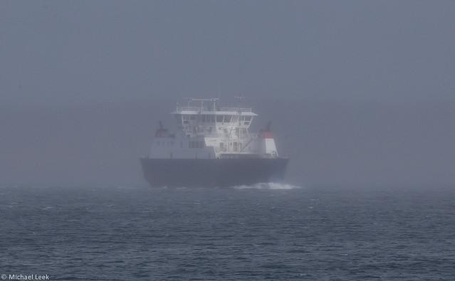 The Yell-Toft ferry MV Dagalien; Shetland Islands
