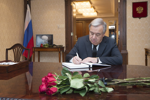 Secretary-General Signs Book of Condolences for Russian Representative | by United Nations Photo