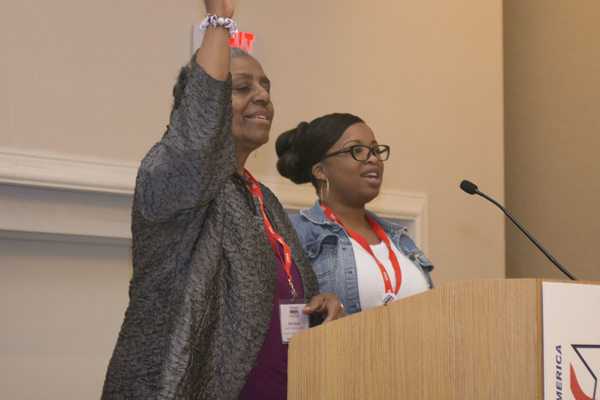 Elaine Bryant at the 2017 Public, Healthcare, and Education Workers Conference