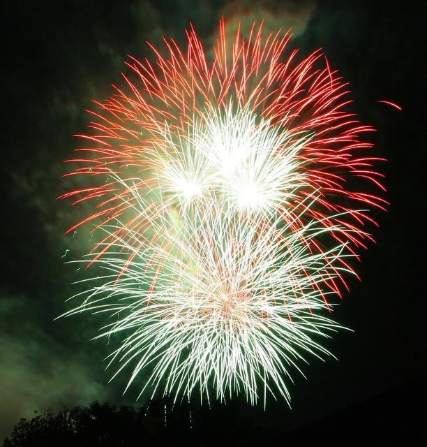 Fireworks over Claudelands