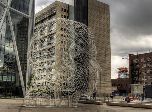 The Head statue in Calgary