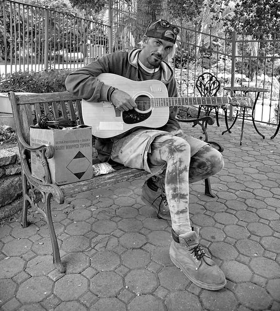 Steven - Homeless guitar guy.