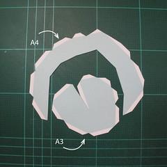 วิธีทำโมเดลกระดาษตุ้กตาคุกกี้รัน คุกกี้รสจิ้งจอกเก้าหาง (Cookie Run Nine Tails Cookie Papercraft Model) 001