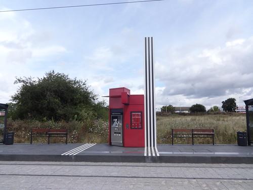 Oeuvre d'art en station  -  Tours FIL BLEU | by A - Bobo