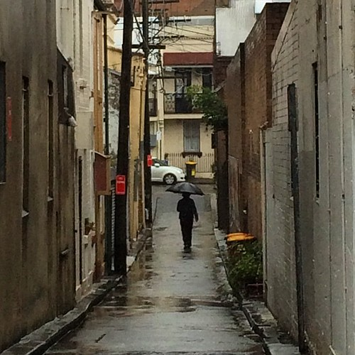 Surry Hills lanes in the rain 4: man with umbrella | by TenguTech