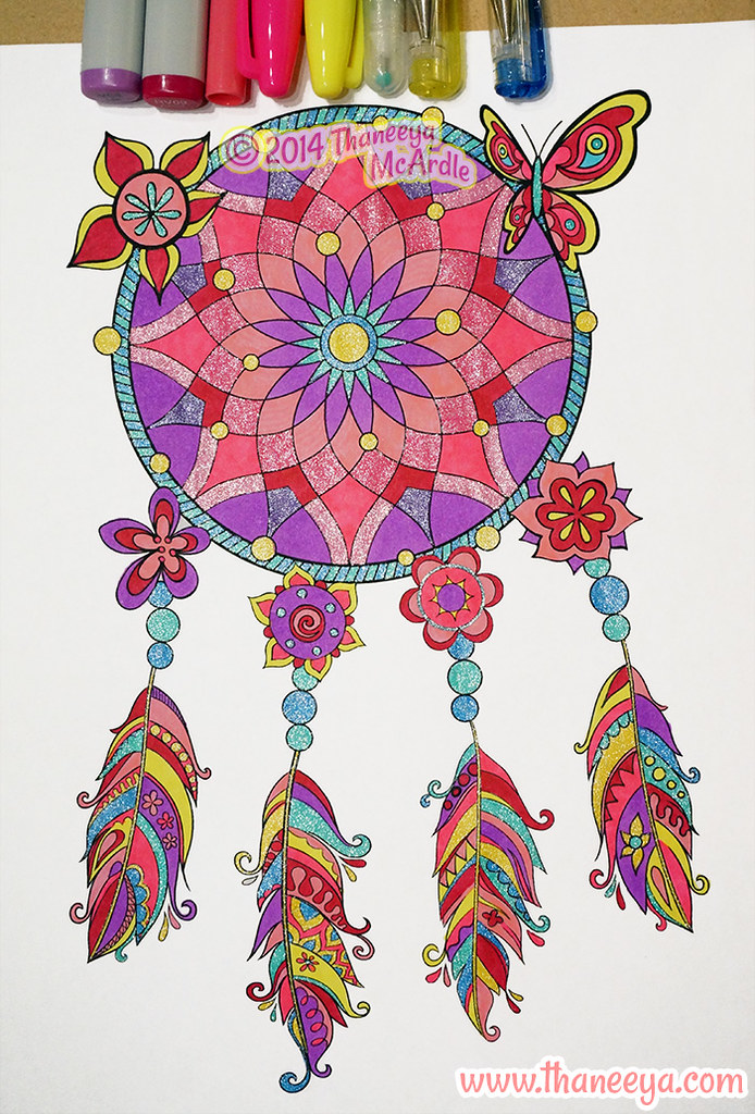Dreamcatcher Coloring Page By Thaneeya Mcardle Here S Some Flickr