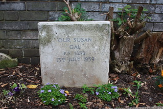 Headstone in the pet cemetery, Hornfair Park | by Hilly2012