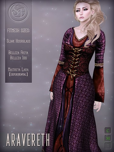 """""""Aravereth"""" Gown (Fitted Mesh) 