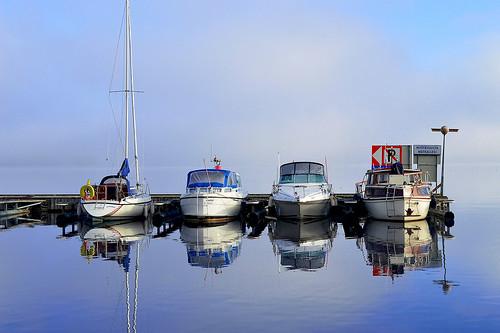 järvimaisema mist sumu tyyni heijastus reflections nikon interesting suomi boats vene fog views waterscape d3200 nikond3200 europe