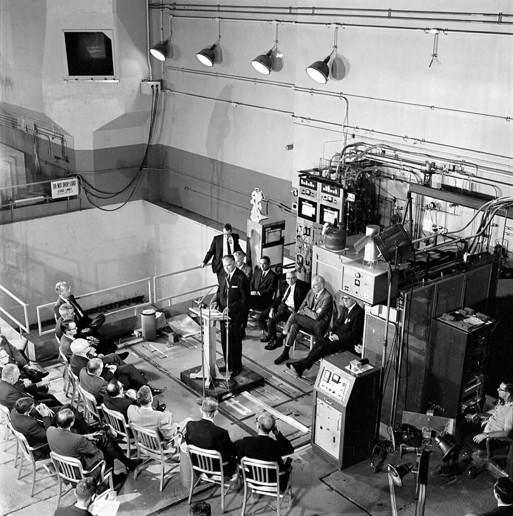Startup of MSRE with U-233 with Atomic Energy Commission Chairman Glenn Seaborg speaking 1968 Oak Ridge