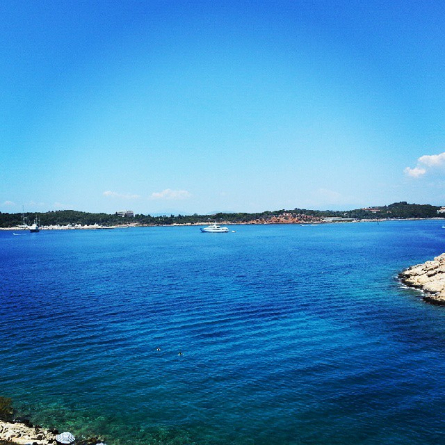 #summer #relax #outdoor #blue #horizon #view #landscape #beach #sea #attica #Greece #athens #vouliagmeni #limanakia