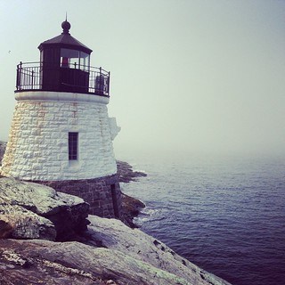 Lighthouse in a misty morning #newport #summer | by xymox