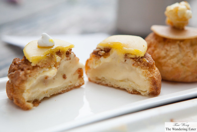 Cross section of the lemon choux