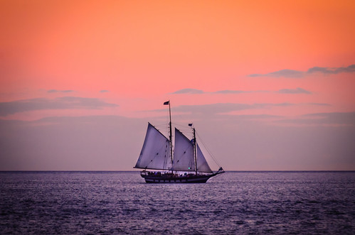 voyage travel sunset beach boat ship journey averypoint