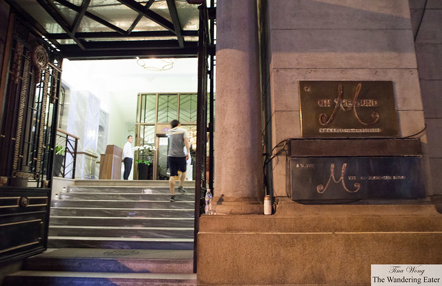 Entrance to M on the Bund and The Glamour Bar
