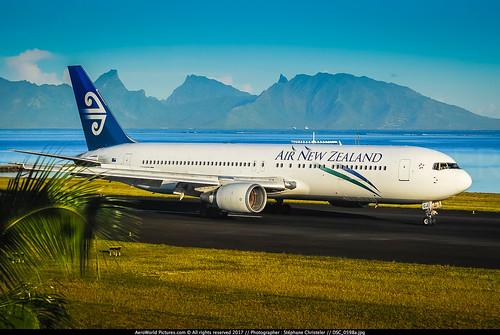 "air new zealand boeing 767319er zkncj ppt papeete faaa airport nz french polynesian airnewzealand b767 b763 b767300 er anz planes aircrafts planespotting cn 26915 574 n930we everett pae kpae tahiti ntaa south pacific runway island sunrise n6018n 2008 nikon d80 zoom lenses nikkor 70300vr lightroom lr5 awp raw flickrunitedaward ""nikonflickraward"""