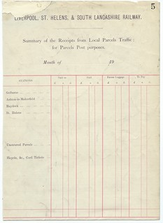 Liverpool, St Helens, & South Lancashire Railway summary of receipts 1900 | by ian.dinmore