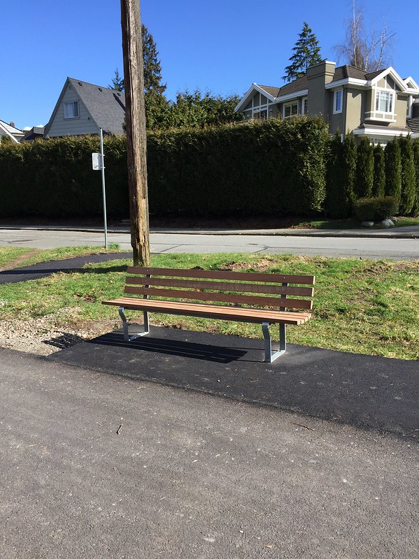 Newly installed bench