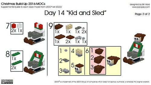 Day 14 Kid and Sled Instr 2 of 2 | by Bill Ward's Brickpile
