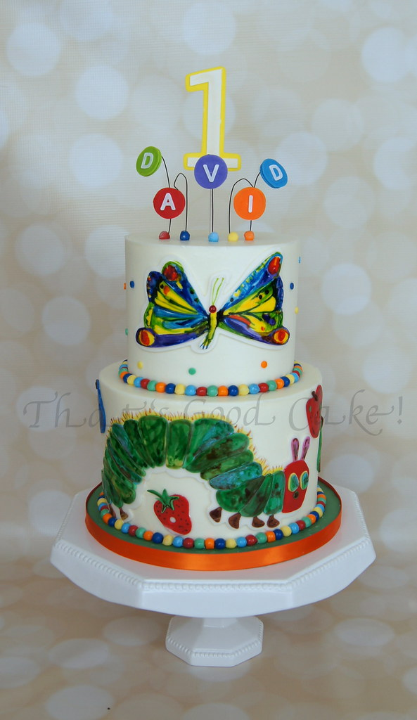 Astonishing Hungry Caterpillar Birthday Cake Happy 1St Birthday David Flickr Personalised Birthday Cards Sponlily Jamesorg