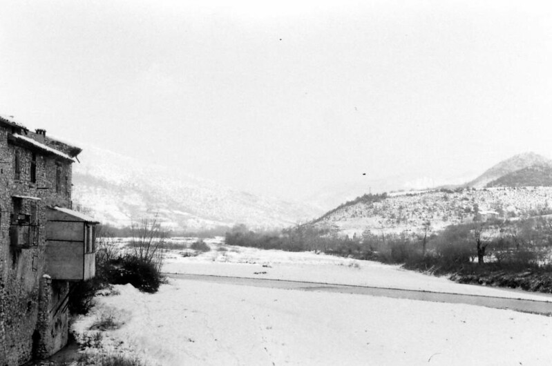 La neige dans l'Eygues
