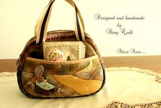 Story Quilt Applique handbag